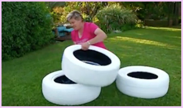 DIY Painted Tire Planter Tutorial-Video
