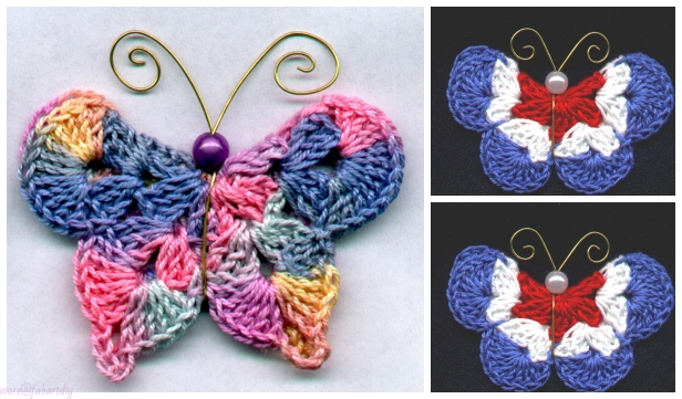 Crochet 3D Mary G Butterfly Free Crochet Pattern