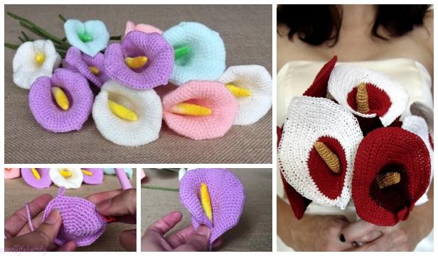 Crochet Calla Lily Flower Crochet Free Pattern - Video