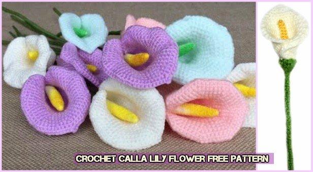 Amigurumi Flowers Free Patterns : Calla lily flower free pattern