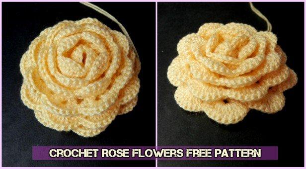 Crochet Rose Flower Free Pattern