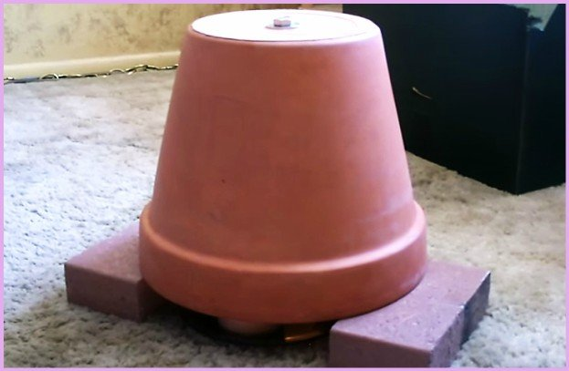 DIY Candle Powered Flower Clay Pot Air Heater Tutorial