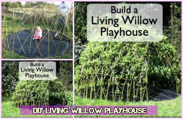 DIY Kids Living Willow Playhouse Tutorial
