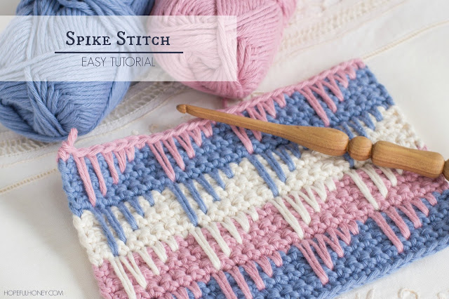 How To Crochet Different Stitches : How to Crochet Spike Stitch - Video