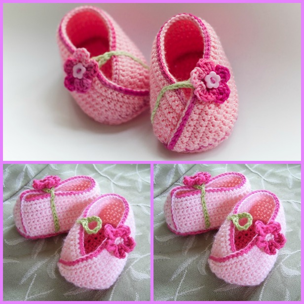 Crochet Flower Baby Kimono Booties Patterns