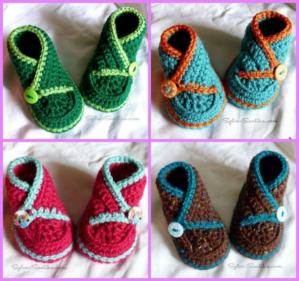 Crochet Baby Kimono Booties Slippers Patterns