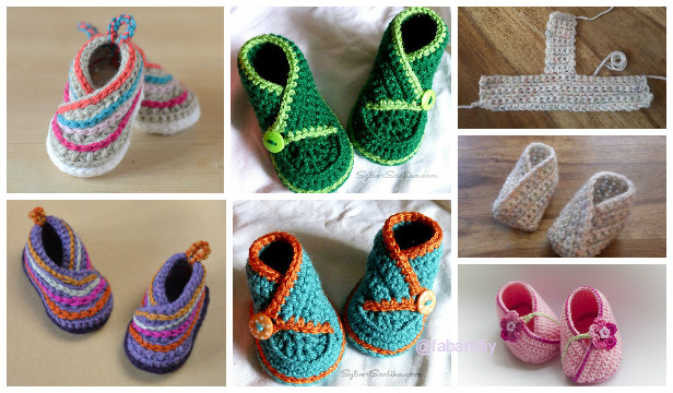 e780d06ed8cf Crochet Baby Kimono Booties Slippers Patterns