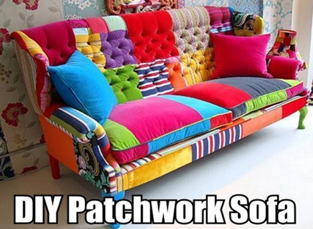 DIY Patchwork Sofa Guide tutorial-video