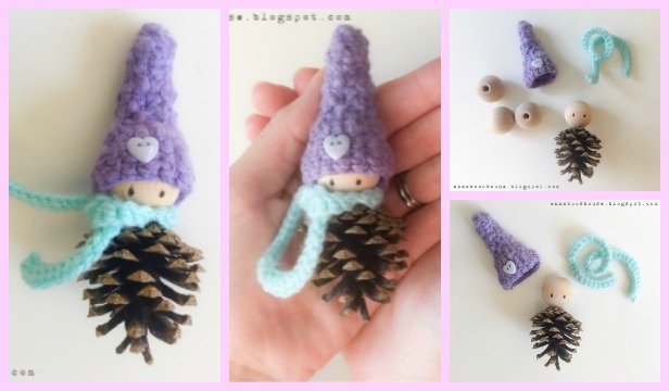 Crochet Pinecone Fairy Tutorial Free Pattern