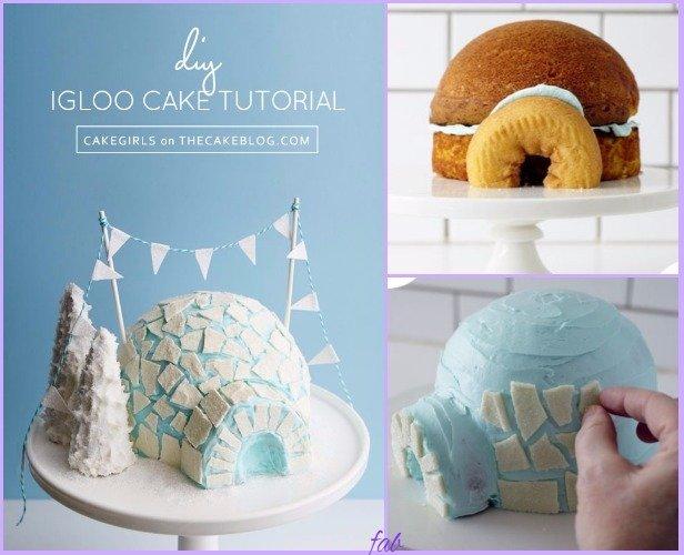 DIY Igloo Cake Recipe & Tutorial