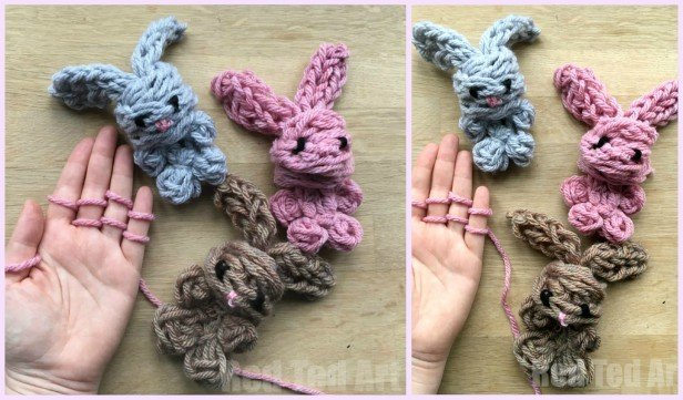 Easy Finger Knitting Bunny Free Knitting Pattern