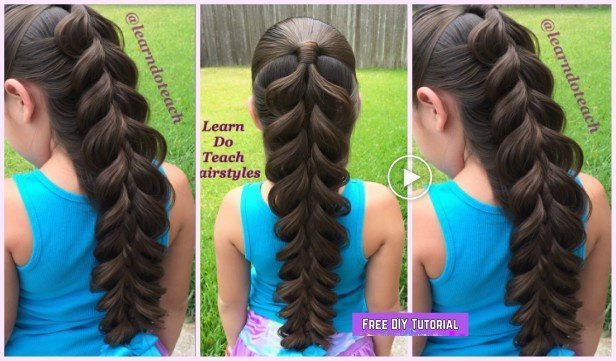 Learn How to Make Pull Through 5 Strand Braid Hairstyle