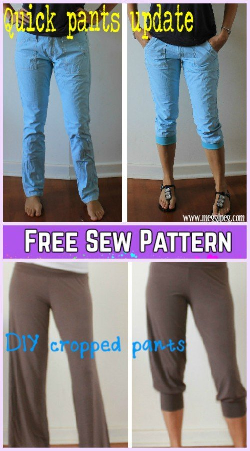 DIY Refashion Long Jeans into Crop Jeans Tutorial