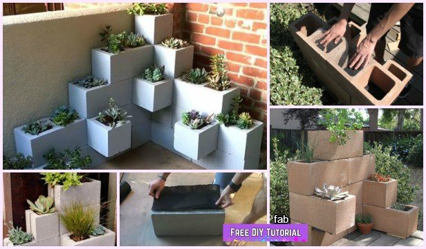 DIY Vertical Corner Cinder Block Planter Tutorials-Video