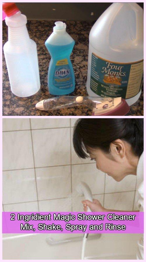 DIY Magic Homemade Shower Cleaner Solution-Super Easy Recipe