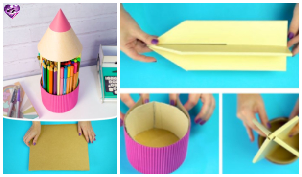 Creative Ways to Recycle Cardboard into Desk Organizer