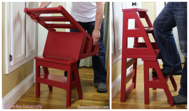 DIY Convertable Ladder Chair Tutorial