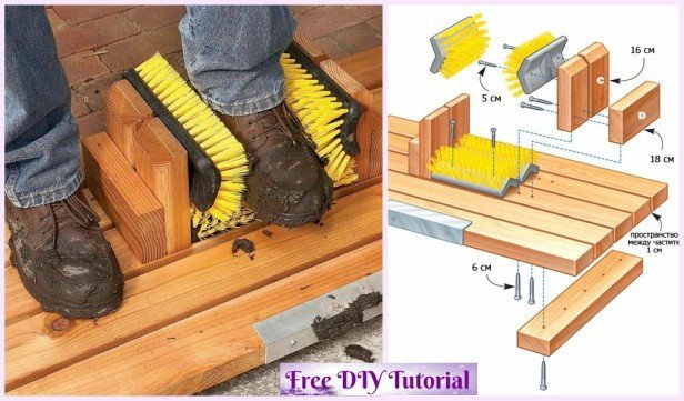 DIY Front Door Shoe Wiper Tutorial