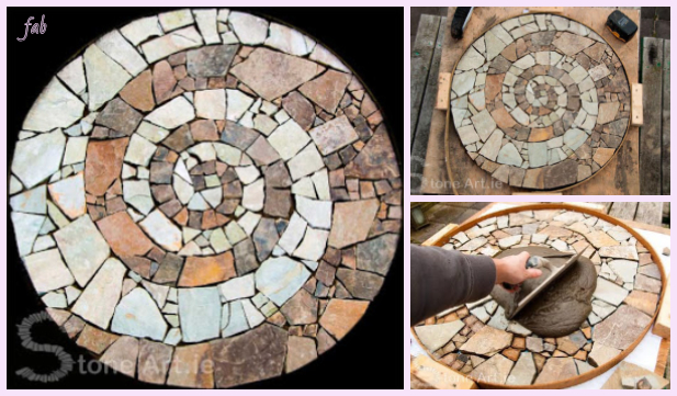 DIY Mosaic Garden Stepping Stone Walkway Tutorial