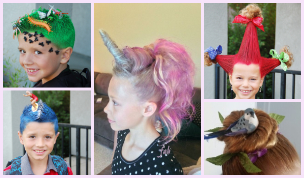 Diy Unicorn Hairstyle Tutorial For Crazy Hair Day