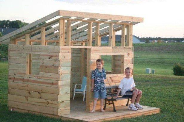 DIY Western Saloon Kids Fort Playhouse Tutorial