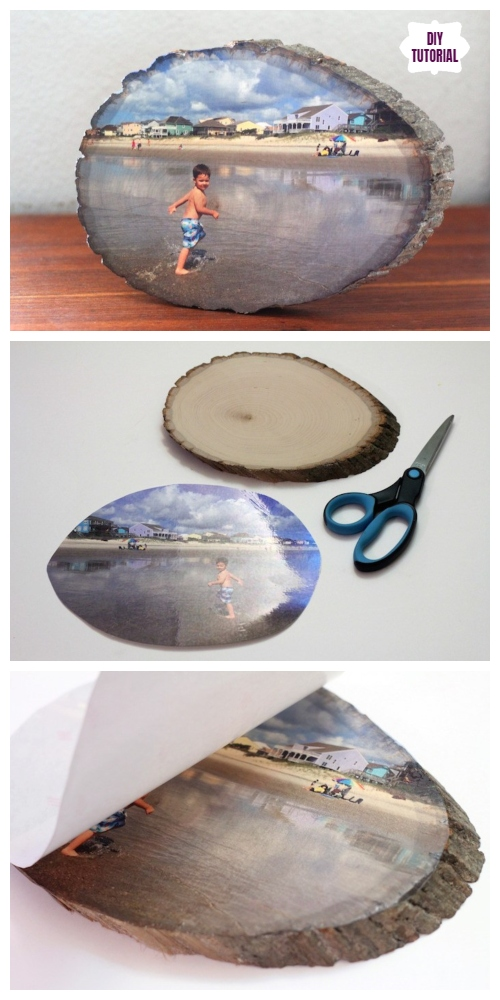 Easiest Way to Transfer Photo On Wood Slice DIY Tutorial - Video