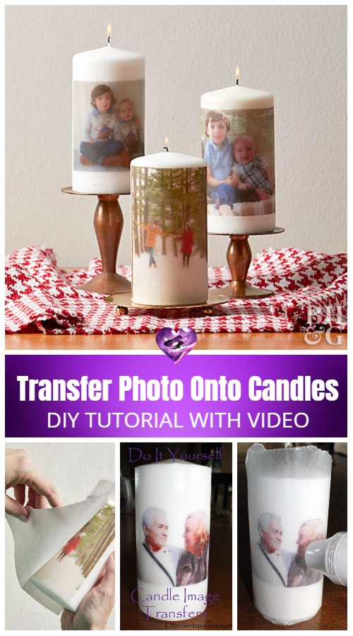 How to Transfer Photo Onto Candles DIY Tutorial