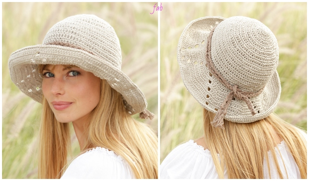 Crochet My Girl Women Summer Sun Hat Crochet Free Pattern