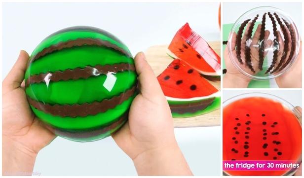 DIY Giant Jello Watermelon Tutorial for Kids