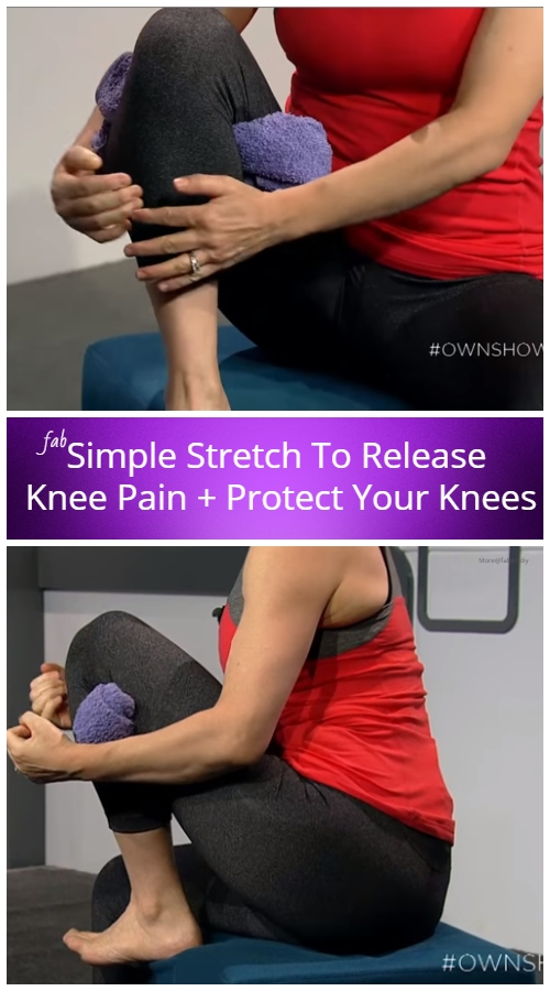 Simple Stretch To Release Knee Pain And Protect Your Knees