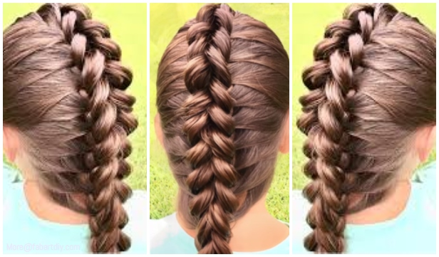 Amazing Girls Dragon Braid Hairstyle Diy Tutorial Video