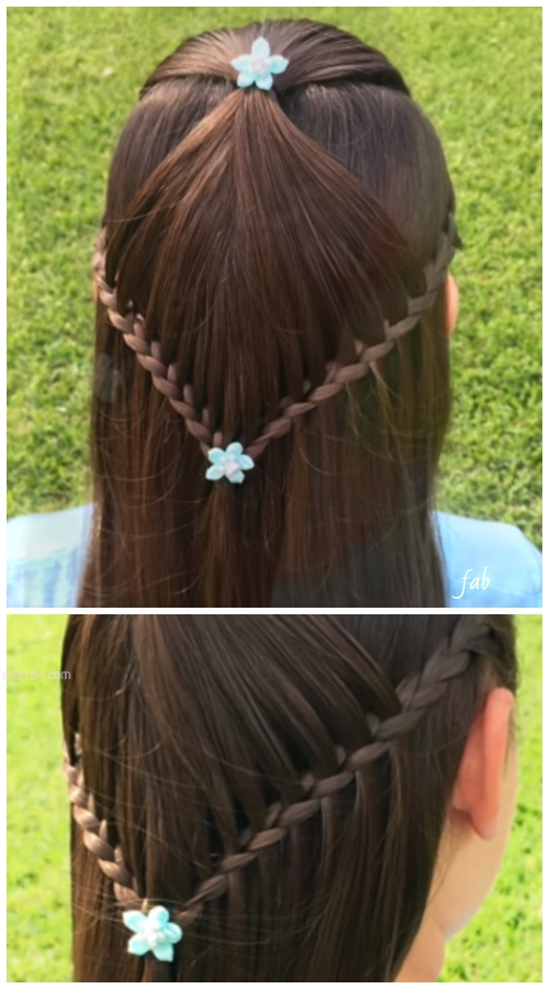 Girls Starburst Braid Hairstyle DIY Tutorials