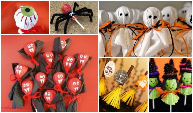 Kids Halloween Lollipop Craft DIY Ideas & Tutorials