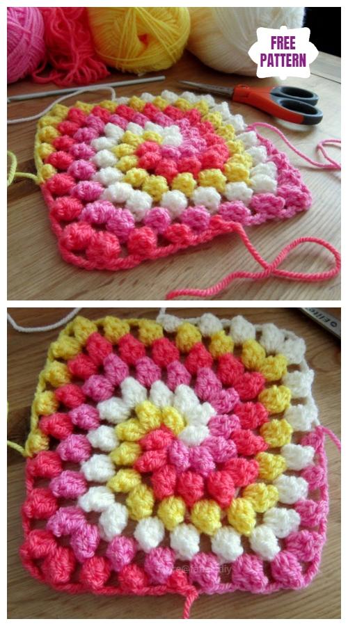 DIY Granny Bobble SpiralBlanket Free Crochet Pattern