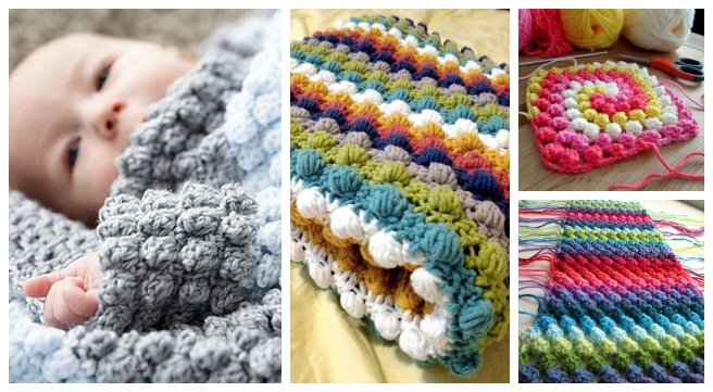 DIY Crochet Bobble Stitch Blanket Free Crochet Patterns