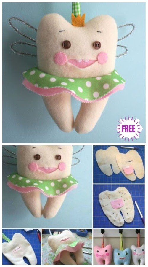 DIY Cute Tooth Fairy Pillow Sew Pattern & Tutorial