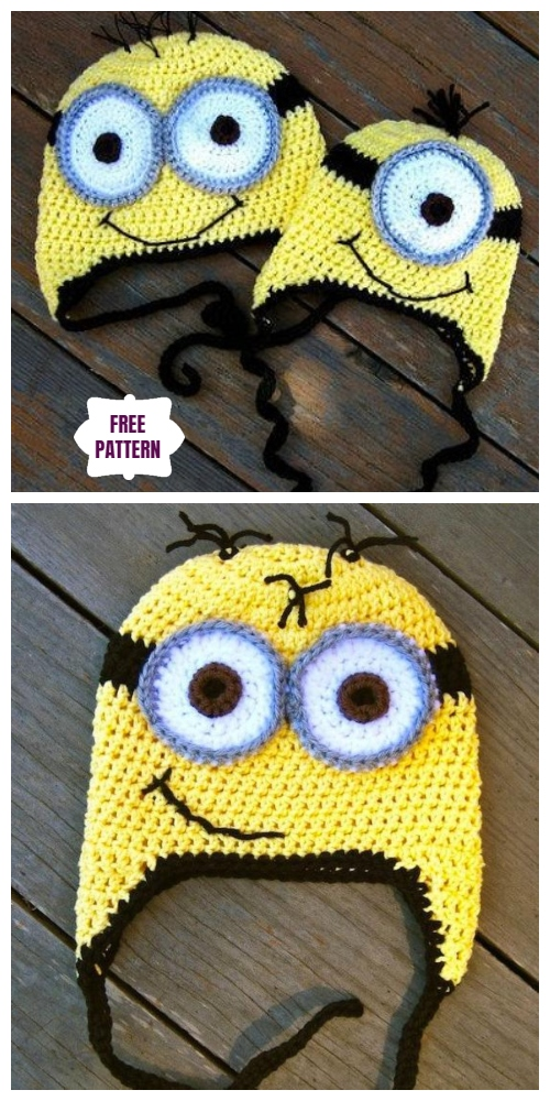 DIY Crochet Despicable Me Minion Beanie free Crochet Pattern