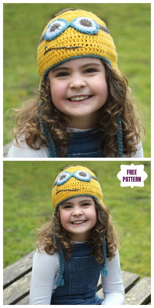 DIY Crochet Minion Hat free Crochet Patterns