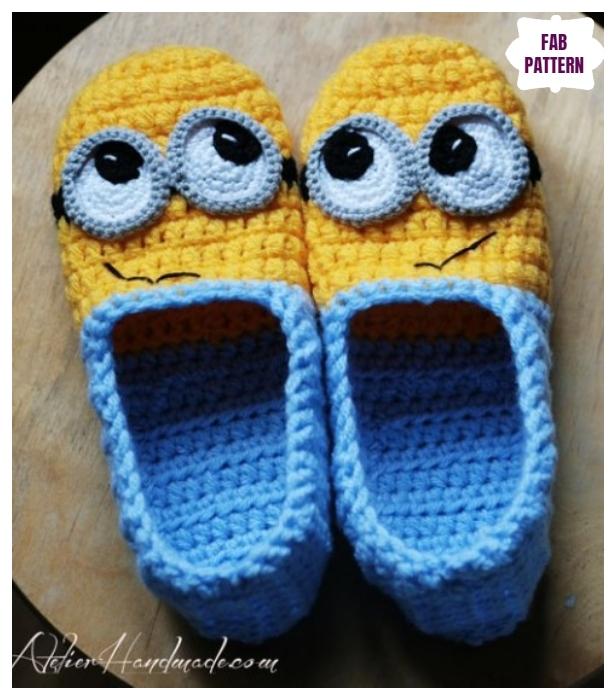 Crochet Minion Slippers Crochet Patterns