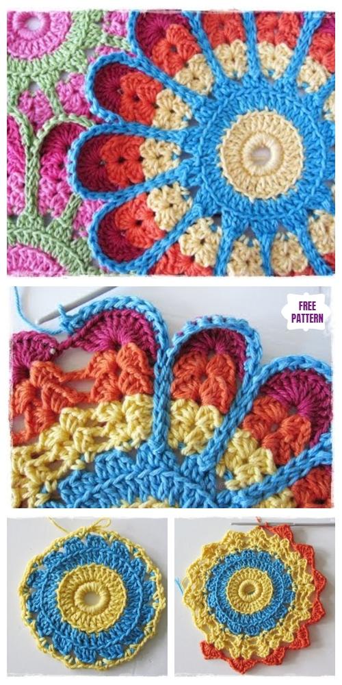 Crochet Overlay Coaster Free Crochet Pattern