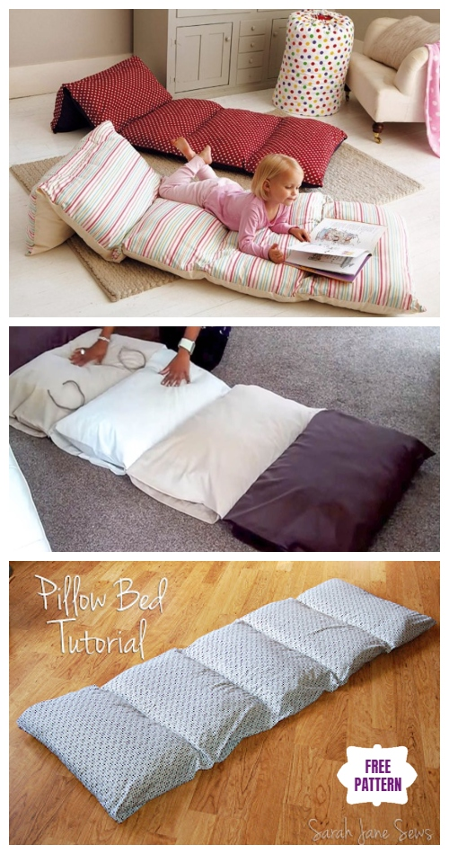 DIY Simple Roll Up Pillow Bed Tutorial - Video