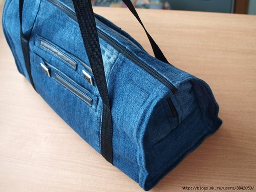 DIY Cool Handbag from Old Jeans Free Sew Pattern & Tutorial