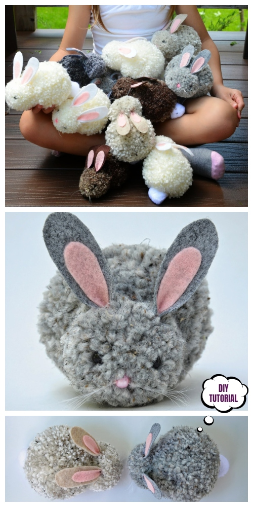 DIY Easter Pom Pom Party Bunnies Tutorial - Video