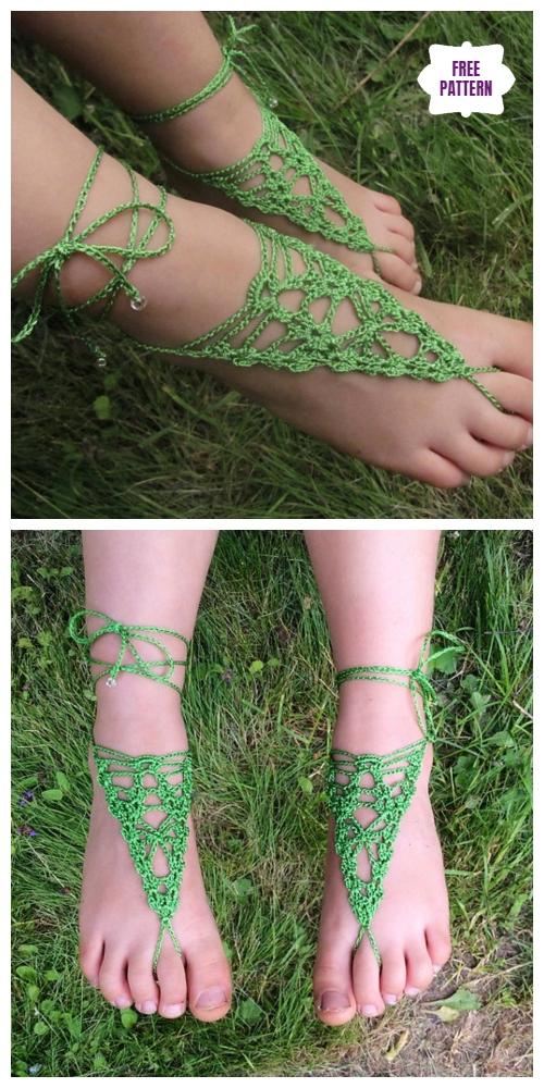Crochet Arachnid Barefoot Sandals Free Crochet Pattern