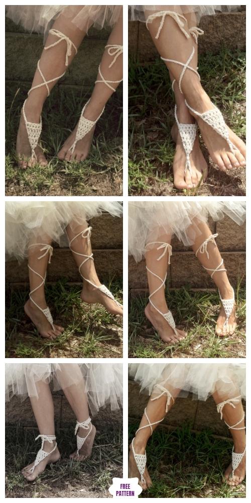Crochet Bohemian Barefoot Sandals Free Crochet Pattern