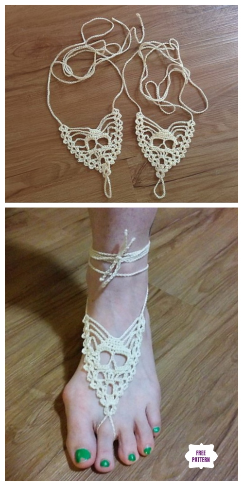 Diy Sexy Barefoot Sandals Free Crochet Patterns Tutorial