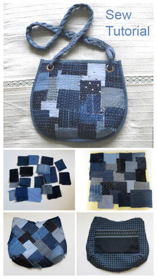 DIY Boro Denim Bag Tutorial