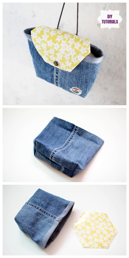 DIY Recycled Bag from Old Jeans Tutorial