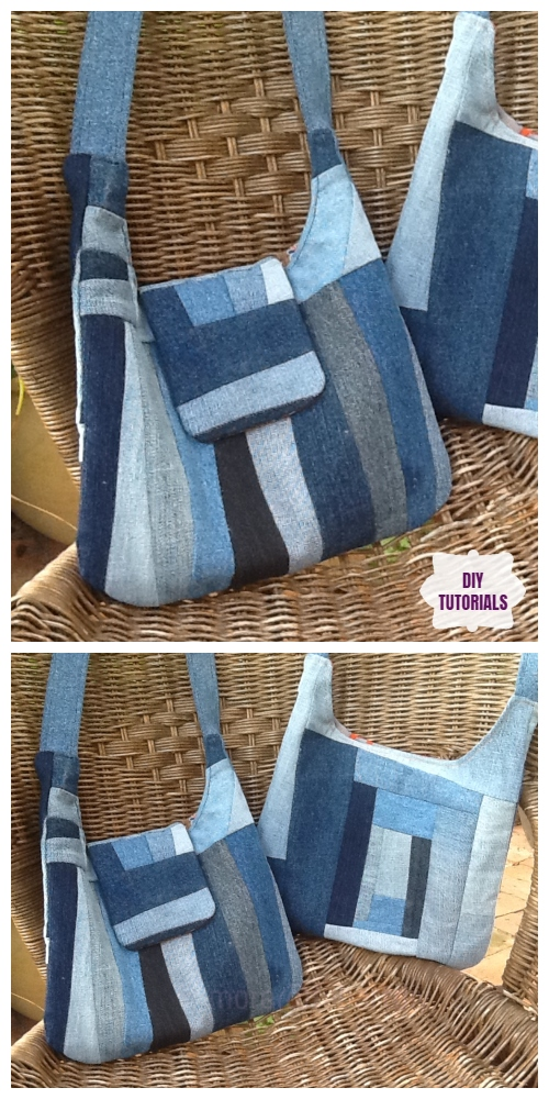 DIY Recycled The Emma Handbag Sewing Pattern + Tutorial