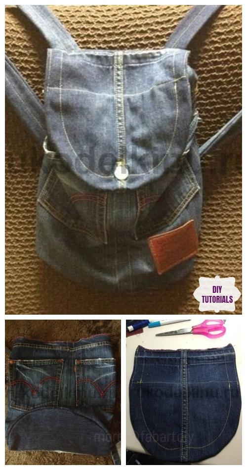 DIY Recycled Denim Jean Backpack Tutorial